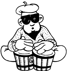 bongo drummer drums & drummer coloring pages bongo drum player coloring page on pixel player template