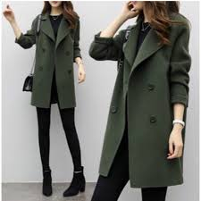 brand new olive green winter coat size m women s fashion clothes outerwear on carou