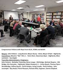 Pallone / Army Corp / NJDEP / FEMA / Local Mayors meet to discuss ...