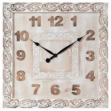 Orologio quadrato da parete in legno cm 60x5x60h - CollyShop