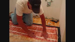 install warmup electric floor heating mat using edge strip kits