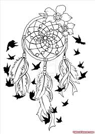 Dream Catcher With Birds Beauteous Dream Catcher And Flying Birds Feathers Tattoo Design Tattoo