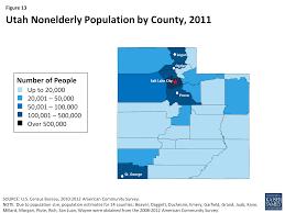 figure 13 utah nonelderly population by county 2016