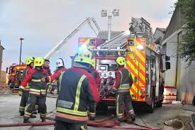 Firefighters at the scene of the barn fire - Cornwall Live