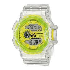 Casio G Shock Size Chart Casio G Shock Ga 400sk 1a9er Clear Neon Yellow