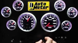 Autometer Gauge Light Auto Meter Elite Series Gauges Demonstration For Racing Street With Warning Light Function