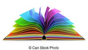 publishing stock ilrationsby radiantskies3 121 open book with colorful pages white background 3d render