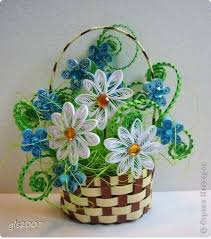 Paper Quilling Flower Baskets How To Make Woven Paper Quilling Flower Basket Step By Step Ideas