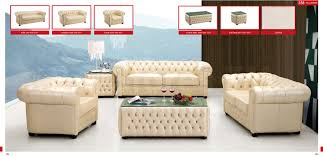 Living Room Sofa And Loveseat Sets 258 Living Room Set Ivory Leather Sofa Loveseat And Chair