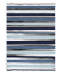 love this navy light blue stripe wool flat weave rug