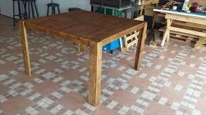 diy pallet outdoor dinning table. Finish Pallet Dinign Table Diy Outdoor Dinning