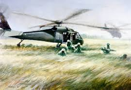black hawk adorns the walls of the pentagon this original is part of the al sprague just cause collection
