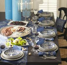 holiday decor black dining table with table runner and tablecloth
