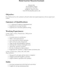 Resume Objective Examples For Any Job Retail Objective Resume Englishor Com