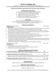 resume objective examples hospitality management resume template with hospitality management resume example hospitality resume