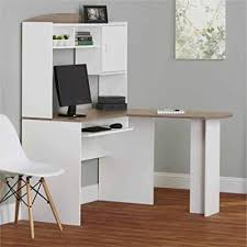 white corner desk with hutch. Simple White Corner L Shaped Office Desk With Hutch WhiteSonoma Oak Intended White With S
