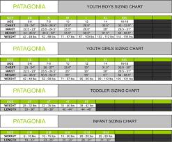 Patagonia Child Size Chart Patagonia Size Chart Bedowntowndaytona Com