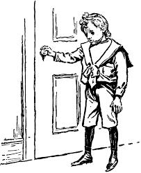closed door clipart. Closed Door Drawing. Boy At Drawing N Clipart