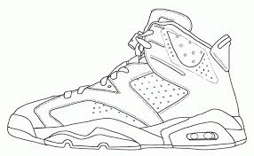 jordan shoes coloring pages page coloring home for coloring pages of shoes