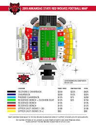 Illinois Seating Chart Football Seating Chart Arkansas State Athletics Official Web Site