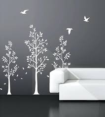 vinyl wall art tree decals nursery birds by black and white damask wall decals best white