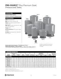 Pressure Tank Drawdown Chart Pro Source Plus Premium Steel Pressurized Tanks Manualzz Com