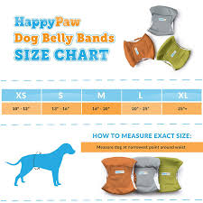 Belly Band Size Chart Happypaw Reusable Washable Dog Belly Bands 3 Pack Durable Comfortable Stylish Dog Wraps For Male Dogs Premium Quality