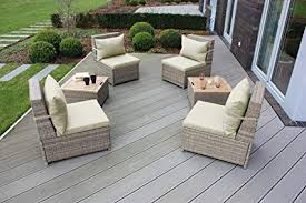 Waterproof cushions for outdoor furniture Pallet Couch Image Unavailable Amazoncom Amazoncom Landmann Budapest 6piece Chair And Table Patio Set With