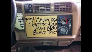My 1997 Chevy Blazer Custom Kindle Dash Mod Build Pic's! - YouTube