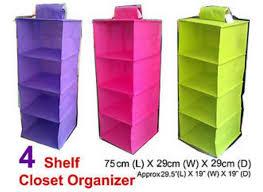 4 shelf hanging closet organizer