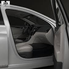hyundai sonata 2015 black interior. hyundai sonata yf hybrid with hq interior 2015 3d model max obj 3ds fbx c4d lwo black