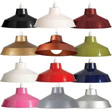 12 retro small metal coolie lampshade ceiling light shade fitting pendant