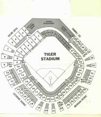 Detroit Tigers Seating Chart Vintage Tiger Stadium Seating Chart