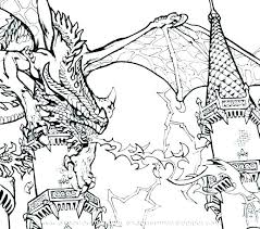 Realistic Dragon Coloring Pages Cool Dragon Coloring Pages Scary