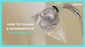 how to clean a grimy shower head with vinegar diy irl