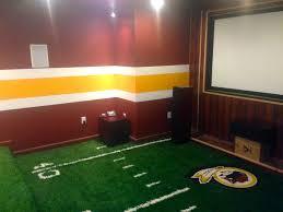 man cave football carpet