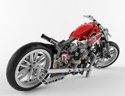 lego technic motorbike alternative 3d cgtrader