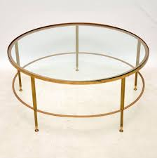 1960 s french brass glass coffee table