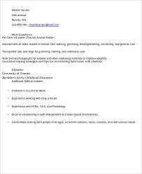 Volunteer Work Resume Examples Sample Volunteer Resume 10 Examples In Word Pdf