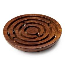Wooden Maze Games Wooden Labyrinth Game Marble Maze Puzzle UncommonGoods 6