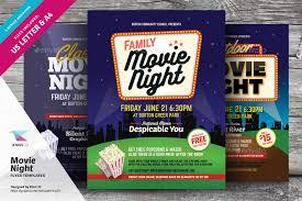Free Movie Night Flyer Templates Movie Night Flyer Templates