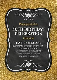 Elegant 40th Birthday Invitations Archives Superdazzle