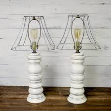vintage farmhouse lighting. Shabby Chic Vintage Lamp Set - Farmhouse Antique Lam Lighting