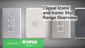 Clipsal Iconic Light Switch Clipsal Iconic And Iconic Styl Range Overview