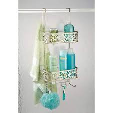 Amazon.com: InterDesign Vine Over Door Shower Caddy \u2013 Bathroom Storage Shelves for Shampoo, Conditioner and Soap, Satin: Home \u0026 Kitchen