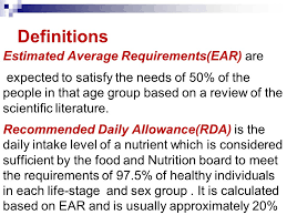 nutritional essment 2 definitions estimated