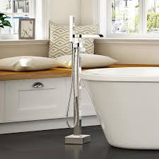 OVE Decors Infinity Chrome 1-Handle Adjustable Freestanding Bathtub Faucet