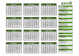 2018 Calendar Templates - Download 2018 Monthly & Yearly Templates ...