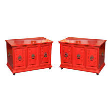 red bedside table. Perfect Red Delightful Hollywood Regency Red Lacquer Bedside Tables For Sale Throughout Table D