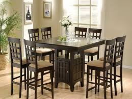 Image of: counter height dining table and chairs